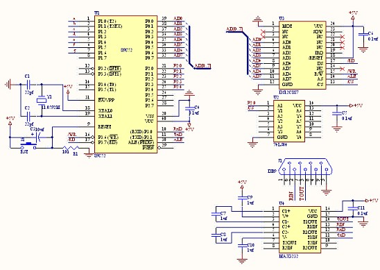 c51单片机时钟电路图