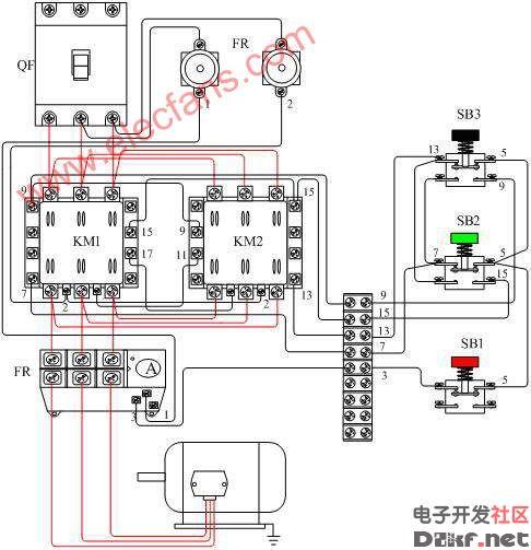 交流接触器接线图图片