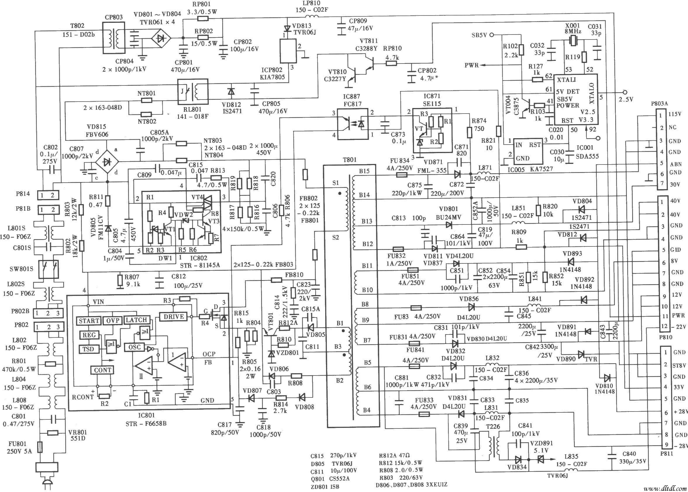 pt-48a82背投彩电电源电路