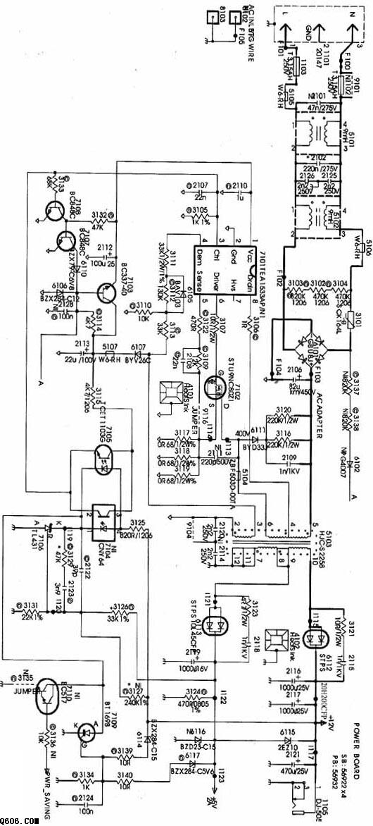 170b4液晶显示器开关电源电路图
