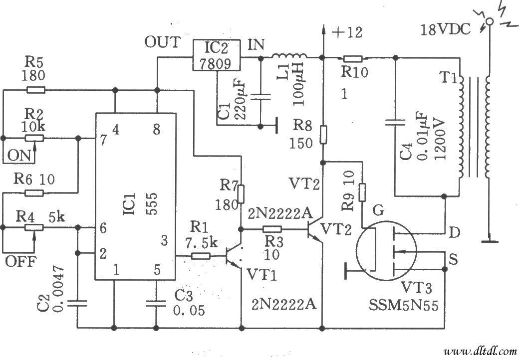 示为高压发生器电路