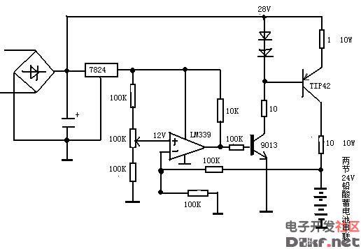 12v铅酸蓄电池充电电路图