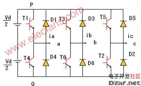 电压型三相桥式逆变电路