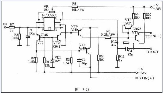 纯直流场效应管功放电路