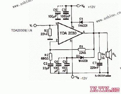 tda2030低音炮电路_原理图论坛