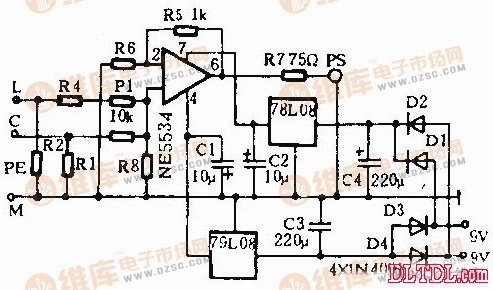 该电路中混合器是用典型的运放ke5534来实现的