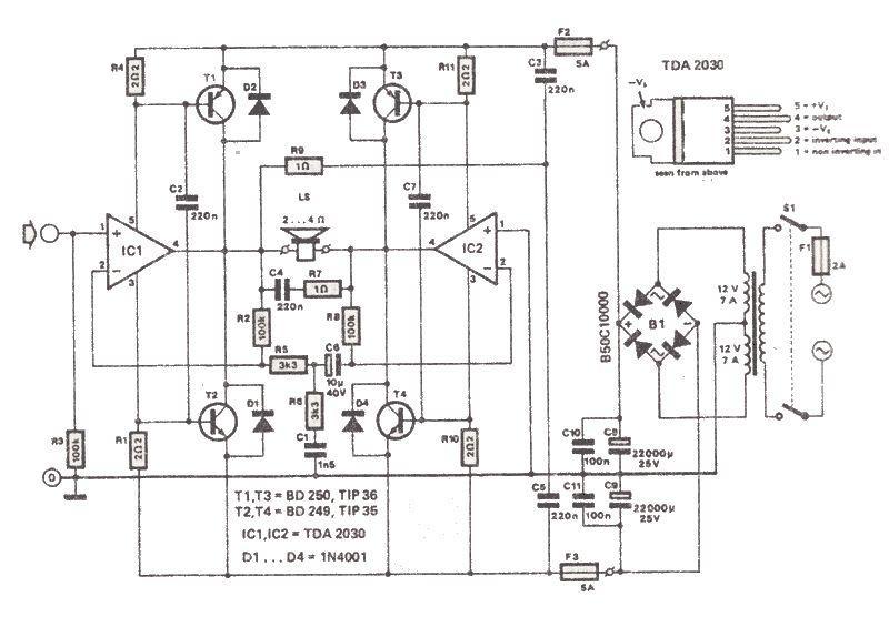 音频单线电路原理图