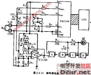 dt830型蜂鸣器电路图