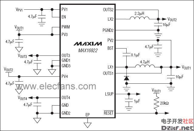max16922参考应用电路