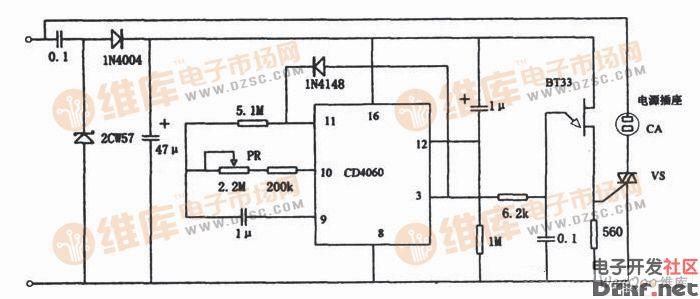 电饭锅预置断电定时器电路设计