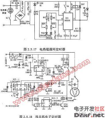 电热毯循环定时器电路图
