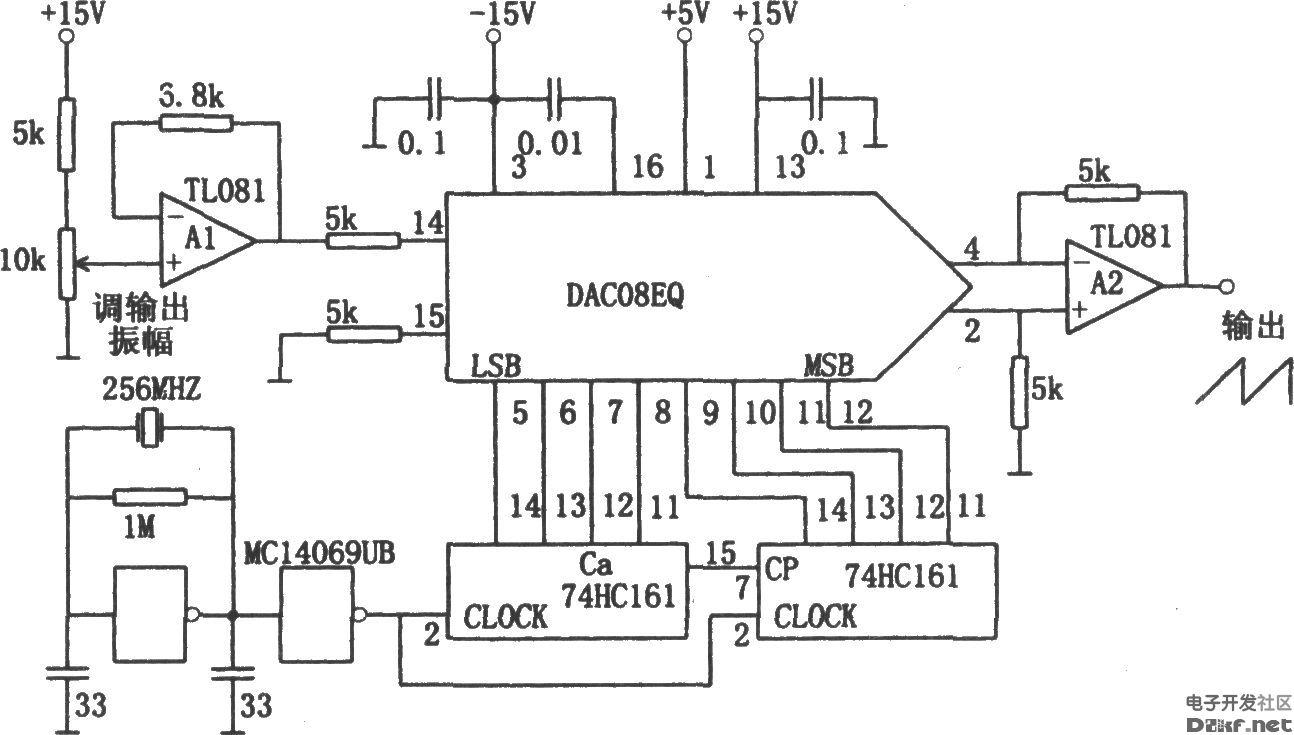 锯齿波信号发生电路