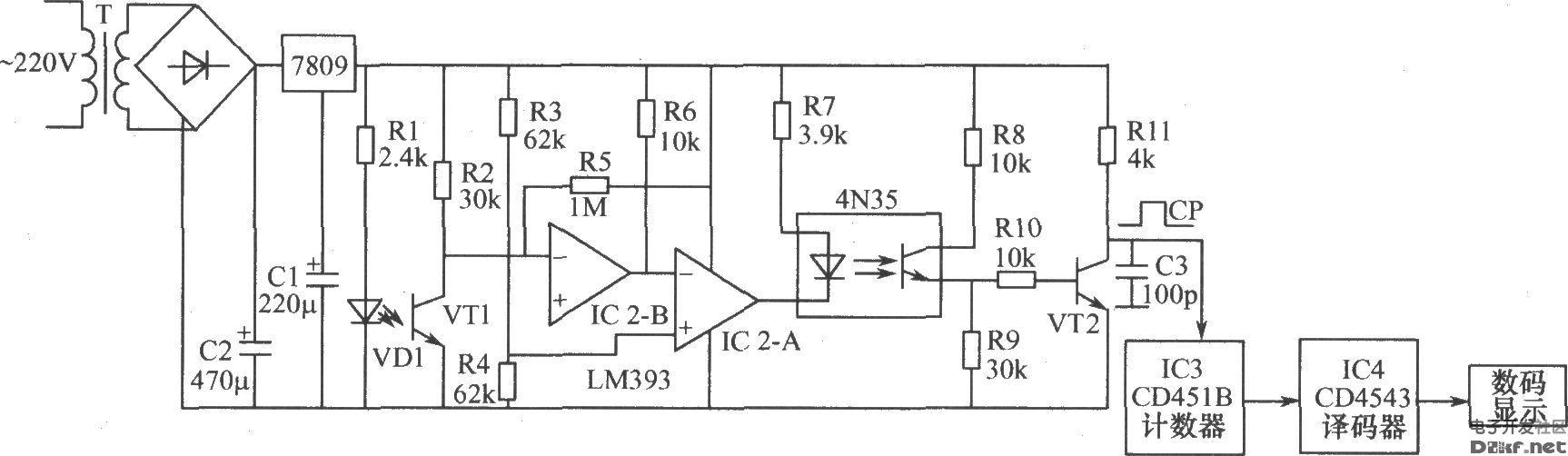 该信号送到十进制计数器