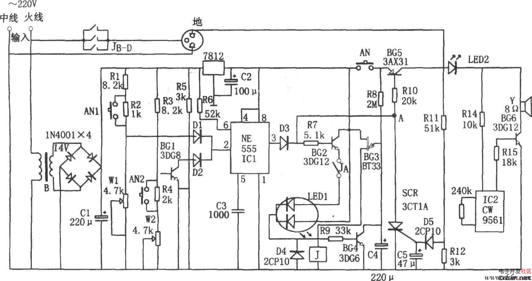 欠压与过压控制电路,延时电路