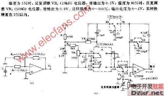 温度,电压转换电路图