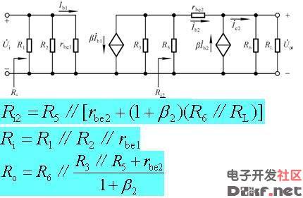 多级放大电路的动态分析