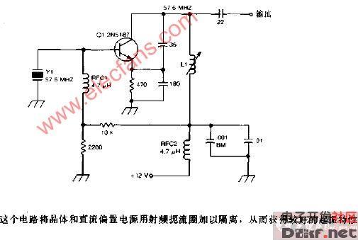 五次泛音晶体振荡器电路图