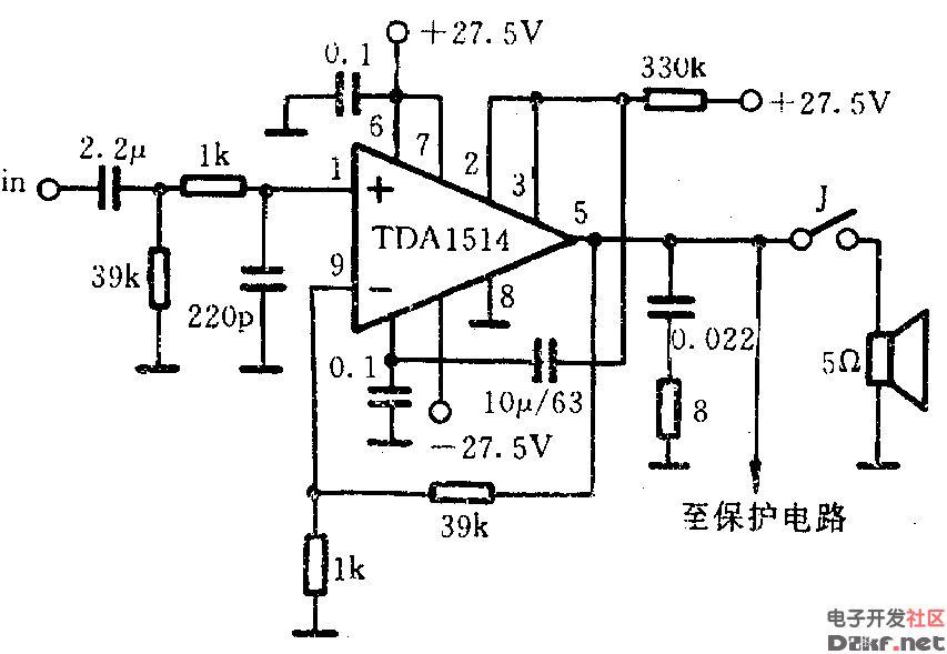 TDA1514功放电路图