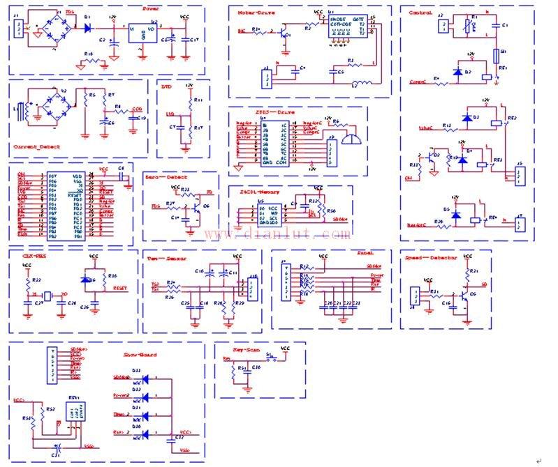 dc12v继电器接线原理图